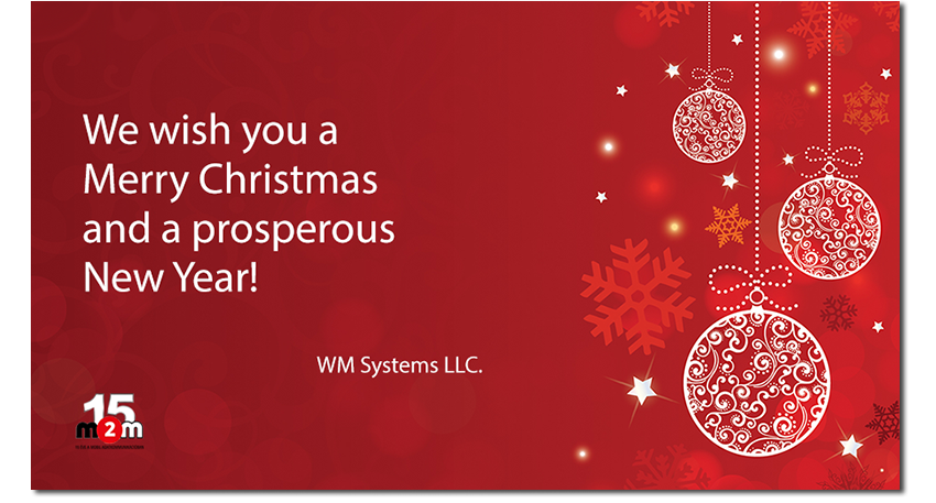 Thank you for your support and the Partnership during this year! We wish you a Merry Christmas and a prosperous New Year!